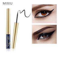 Only $2.24 , MIXIU Eyes Makeup Waterproof Eyeliner Pencil Black Liquid Eye Liner Pen Long-lasting Quick Drying For Women Cosmetic Makeup Tool