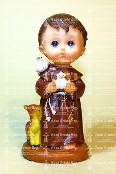 Casa Cristo Rey - San Francisco de Asis de Caricatura. Resina 13 cm TX32390