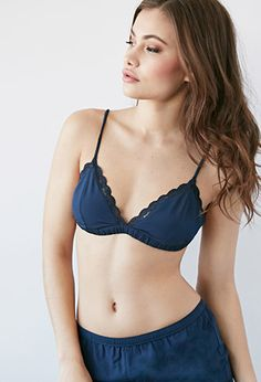 Scalloped Lace-Trim Bralette | Forever 21 - 2000132517
