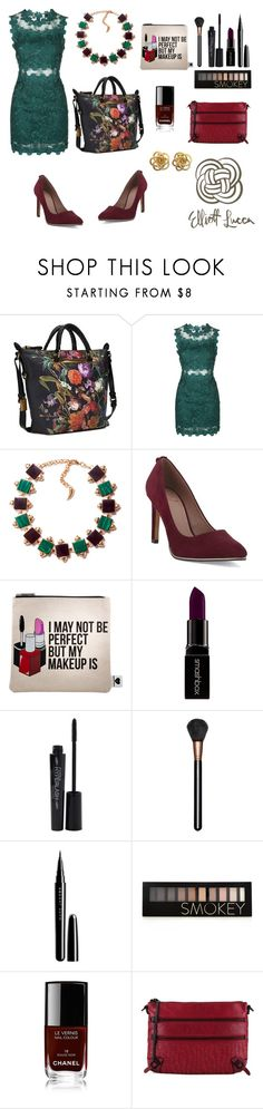 """Valentine's Day Outfit"" by elliottlucca ❤ liked on Polyvore featuring Topshop, Eshvi, Sephora Collection, Smashbox, MAC Cosmetics, Marc Jacobs, Forever 21 and Chanel"