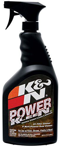 K&N 99-0621 Air Filter Cleaner and Degreaser - 32 oz. Trigger Sprayer - K&N Power Kleen is a high-performance cleaner and degreaser used to remove road grime, engine exhaust and grease from cotton air filters. It is now formulated to clean those troublesome and demanding cleaning jobs. This cleaner is specially formulated to remove oil, lubricants, grease, grime, and...