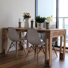 Mesa feita com paletes! ❤️ Fot