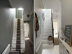Hallway makeover before and after - light hallway - small hallway ideas - 5 things I'd do differently if I did another home renovation project