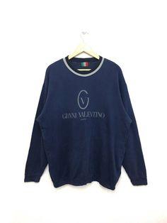 af3b1af586e Valentino 🔥🔥 Rare!! Vintage 90 s GIANNI Valentino Sweatshirt Big Logo  Large Size Nice