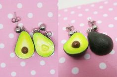 Avocado Earrings - Fruit jewelry - Miniature food jewelry, birthday gift, avocado jewelry