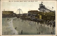 "11. Vintage Summer Picture - ""An Everyday Beach Scene, Long Beach, CA"""
