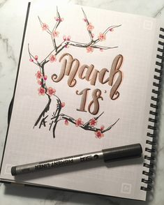 "414 Likes, 10 Comments - @studysavvy on Instagram: ""Can't believe it's March already Here's my cover page featuring my metallic brush pens, this one…"""