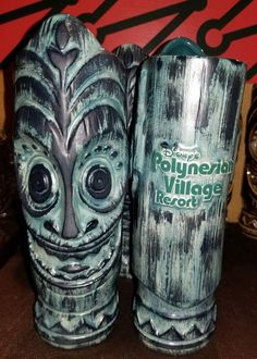 New Disney Polynesian Village Resort Tiki Mug Glass Brown