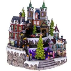 Animated Fiber Optic Lighted Christmas Village http://shop.crackerbarrel.com/Animated-Fiber-Lighted-Christmas-Village/dp/B00ENOIC8Q