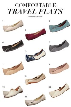 Here are our favorite classic ballet flats that transition from the office to the weekend! Most Comfortable Ballet Flats, Comfortable Dress Shoes For Women, Best Flats, Travel Shoes, Travel Outfits, Travel Wardrobe, Athletic, Look Chic, Walking Shoes