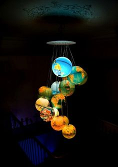 if I ever get a house… #maps #globes #lights