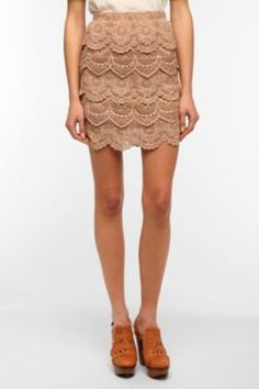 #Urban Outfitters         #Skirt                    #Staring #Stars #Tiered #Crochet #Mini #Skirt       Staring at Stars Tiered Crochet Mini Skirt                                    http://www.seapai.com/product.aspx?PID=1631611