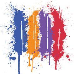 TMNT paint splatter weapons Nerd Art, Nerd Geek, Ninja Turtles Art, Teenage Mutant Ninja Turtles, Ninja Turtle Tattoos, Turtles Forever, Family Tattoo Designs, Tmnt 2012, Dc Comics Art