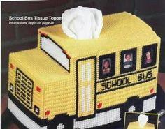 SCHOOL BUS TISSUE TOPPER by SHEILA SEIFERT 1/4