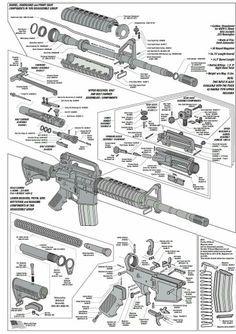AR-15 Exploded Parts Diagram | AR-15 Parts List | steve's ...