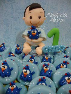 Topo de bolo e as tampinhas dos potes decorados !! Contato e orçamento : andreiaakita@gmail.com | Flickr – Compartilhamento de fotos!