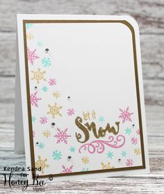 Luv 2 Scrap n' Make Cards: Let It Snow with Honey Bee Stamps
