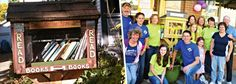 The Community Garden just launched Little Free Library, a local community based and run book exchange, like those that have been popping up all over the world! Little Free Libraries, Free Library, Library Website, American Legend, Long Island City, Classroom Language, Love Book, Diy Gifts, Feel Good