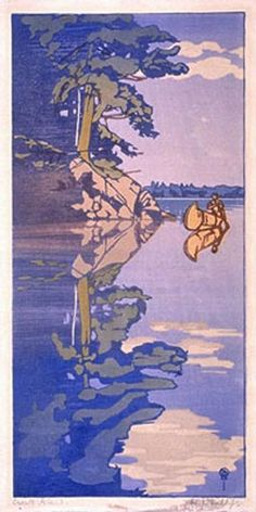 """Walter J. Phillips, """"Crow's Island, Lake of the Woods"""" (1919), National Gallery of Canada, Ottawa"""