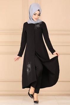 Modaselvim Yeni Ürünler - Tesettür İstanbul Muslim Fashion, Hijab Fashion, Fashion Dresses, Hijab Dress, Hijab Outfit, The Dress, Casual Wear, Indigo, Peplum
