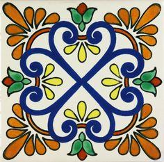 FOR DIAGONAL TACOS  Especial Decorative Tile - Zacatecas II – Mexican Tile Designs