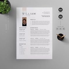 Clean, Modern and Professional Resume and Letterhead design. Fully customizable easy to use and replace color & text. H I G H L I G H T S 2 pages resume template ( A4 & US Letter ) with Bleed Compatibility with Adobe Photoshop, Adobe Illustrator and Word Well Layered & Organized everything is editable color/text 100% Scalable All Files 300DPI CMYK Ready to print Free font used Need help? Send us an email or comment. Letterhead Design, Resume Cv, Creative Resume Templates, Photoshop Illustrator, Cv Template, Professional Resume, Letter Size, Text Color, Business Logo