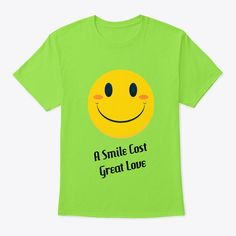 A Smart T-shirt with smiling emoji designed for you. both for men and women. With a variety of colours and with more comfort when you wear it. Emoji Design, Smile Design, Great Love, Colours, T Shirt, Women, Supreme T Shirt, Tee Shirt, Tee