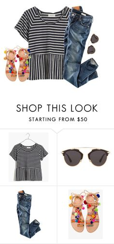 """""""let's go downtown"""" by ava-lindsey ❤ liked on Polyvore featuring Madewell, Christian Dior, H&M and Elina Linardaki"""