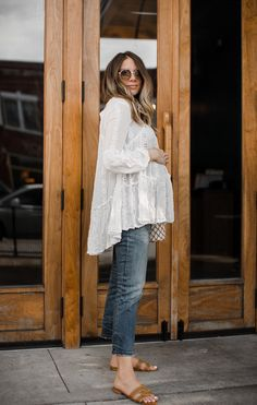 The White Lace Tunic You Can Wear Now and Later This Summer // Ashley Robertson