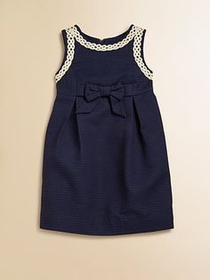 Lilly Pulitzer Kids Girl's Mini Evie Shift Dress- for my 5 year old-New Lilly Pulitzer Girl 6 8 10 12 Mini Evie Dress True Navy Jacquard Holiday for Oliver + S ginSaks Fifth Avenue MobileInspiration for Oliver + S gingham Bubble Dress w Little Girl Outfits, Little Girl Fashion, Little Dresses, Little Girl Dresses, Kids Outfits, Kids Fashion, Girls Dresses, Party Dresses, Trendy Fashion