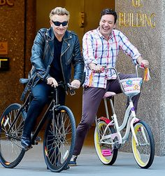 Bono and Jimmy Fallon spoofed the U2 frontman's recent bicycle accident with a skit filmed in NYC for The Tonight Show on Sunday May 3.