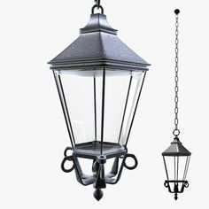 3d realistic suspended lamp light