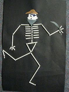 Straw Skeletons from ABC School Art