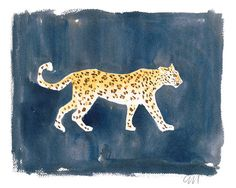 Leopard on Ink - Caitlin McGauley - Tiger Flower Studio