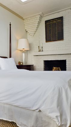 All 14 guestrooms at Fairbanks Inn blend historical details with modern design.