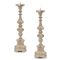 Vintage French Chateau Candle Holders ($399) ❤ liked on Polyvore featuring home, home decor, candles & candleholders, white home decor, white candle holders, handmade home decor, white candlesticks and european home decor