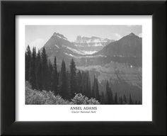 Glacier National Park Framed Art Print by Ansel Adams at Art.com