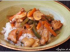 Receta Plato : Arroz basmati con pollo y verduras por Azafrandehebra