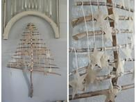An advent tree from  Jeanne Oliver Designs  is created with twigs and branches from the yard to crete a  unique, and beautiful, spin on the traditional advent calendar.