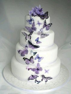 Butterfly wedding cake   Just Desserts   Pinterest   Butterfly     20 Mauve Butterflies for Cakes and Decorations in Home   Garden  Wedding  Supplies  Venue Decorations