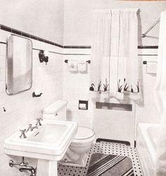 1940s Bathroom   1940sbaths Mid Century Scrapbook Bathrooms