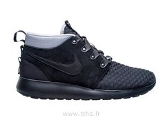 new product c4f79 3bf3d Nike Roshe run Sneakerboot noir Roshe Run Femme Pas Cher