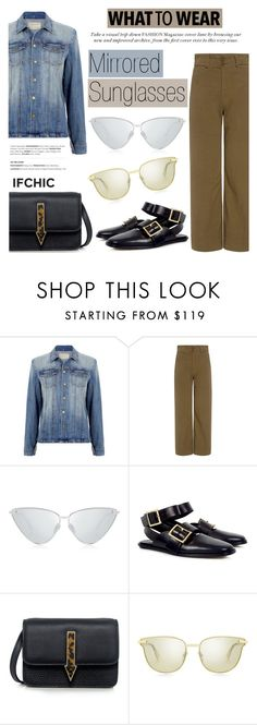"""What to wear: Mirrored Sunglasses"" by ifchic ❤ liked on Polyvore featuring Current/Elliott, Apiece Apart, Le Specs Luxe, TIBI, Mohzy and contemporary"
