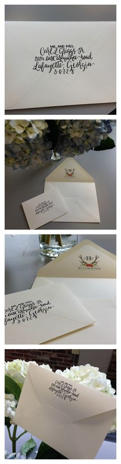 Beautiful small and normal-sized wedding envelopes
