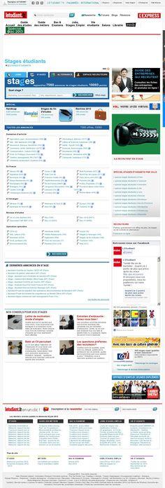 Ce site qui se nomme L'Étudiant.fr  s'adresse à tous les étudiants, qu'ils soient diplômés ou non, à faire un stage à l'étranger dans le pays qu'ils veulent et ce, dans le domaine qu'ils veulent. Ce site internet offre surtout des stages dans la région de la France, mais il en offre quelques uns ailleurs à travers le monde.