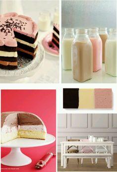 Chocolate. Strawberry. Vanilla. Great idea for birthday!