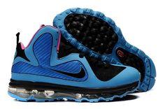 Nike Lebron 9 Men's Basketball Shoe 469764-400 Black-Blue