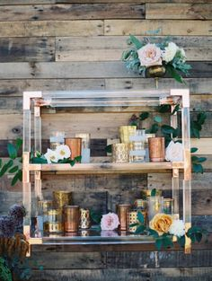 Lucite Bar Cart: 14 Lucite Wedding Ideas for Your Big Day via Brit + Co