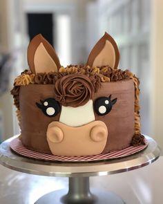 animal cakes for kids & animal cakes Horse Birthday Parties, 2 Birthday Cake, Horse Birthday Cakes, 4th Birthday, Birthday Ideas, Horse Cupcake, Horse Cake Pops, Pony Cake, Pecan Cake