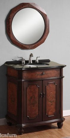 """Click here to view our vintage bathroom furniture products. This 30"""" single sink bathroom vanity is $639.99 only at www.icafurniture.com and our ebay page."""